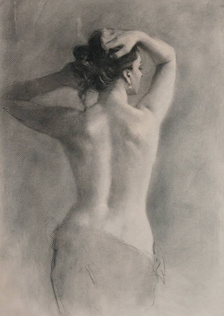 Charcoal on Paper by Michael Alford at Norton Way Gallery, Hertfordshire