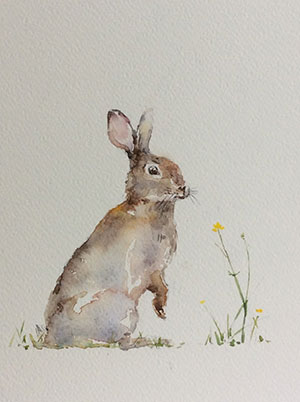 Watercolour by Heather Orton at Norton Way Gallery, Hertfordshire