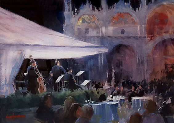A-Night-Music-at-Caffe-Lavena,-St.-Marks-Square
